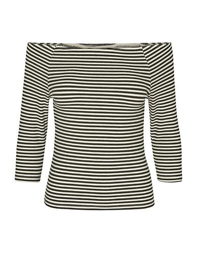 Vero Moda Vmyeng Stripe Off Shoulder Top-WHITE-X-Small 88989283_WHITE_X-Small