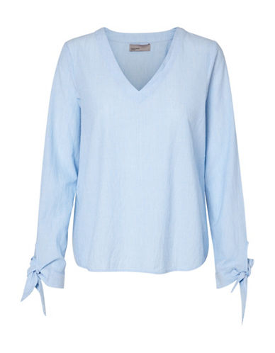 Vero Moda Vmelva Long Sleeve Stripe Top-BLUE-Medium 89174617_BLUE_Medium