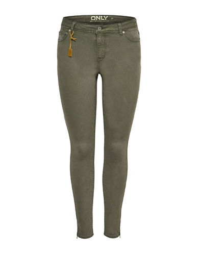 Only onlSERENA Regular Ankle Pants-GREEN-34