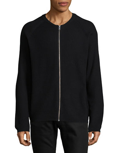 Selected Homme Knit Zip Cardigan-BLACK-Large