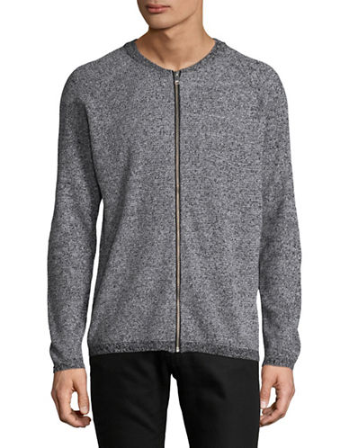 Selected Homme Knit Zip Cardigan-GREY-Large