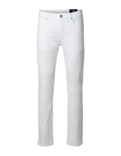 Selected Homme AB Street Slim Fit Jeans-WHITE-31X34