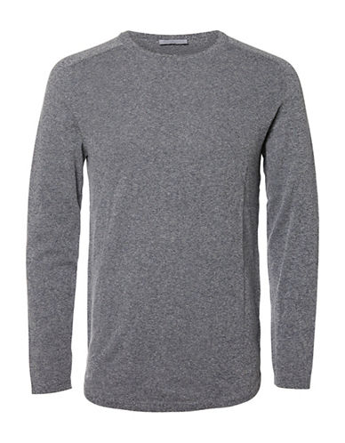 Selected Homme SHDTWIST Long-Sleeve T-Shirt-BLUE-X-Large
