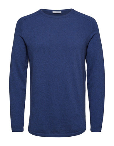 Selected Homme SHDTWIST Long-Sleeve T-Shirt-DARK BLUE-XX-Large