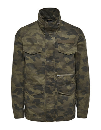 Only And Sons Military Utility Camouflage Jacket-GREEN-Medium 89092231_GREEN_Medium