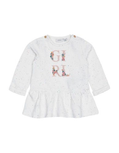 Name It Long Sleeve Sweater Tunic-WHITE-18 Months
