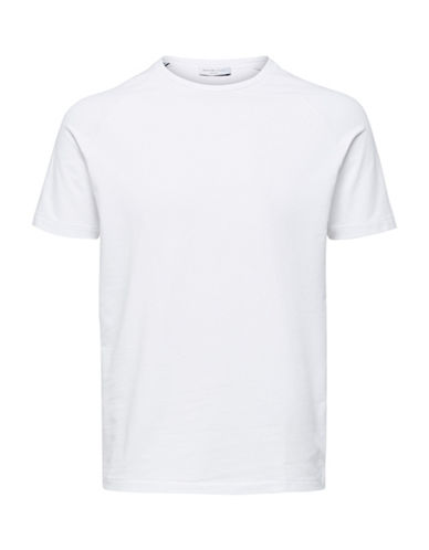 Selected Homme Classic Stretch-Fit Tee-WHITE-X-Large