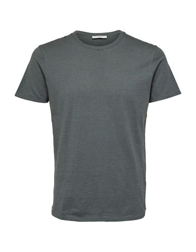 Selected Homme Classic Cotton Tee-GREEN-X-Large 89551306_GREEN_X-Large