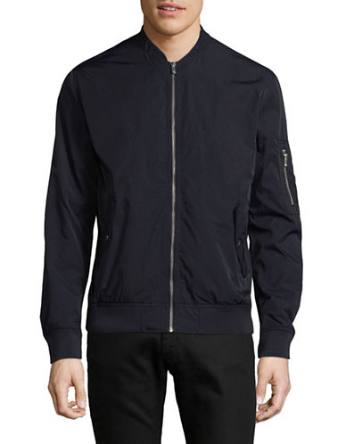 Jack And Jones Premium Compact Bomber Jacket-DARK NAVY-Large