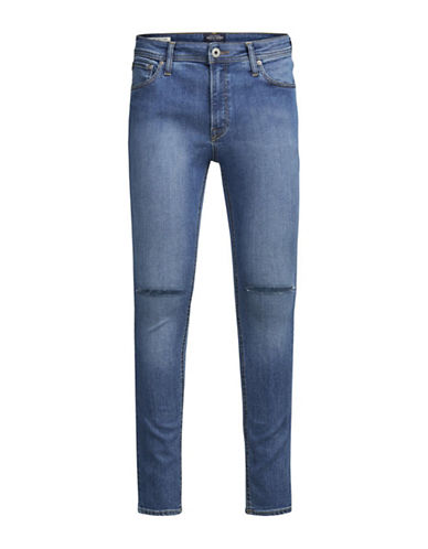 Jack & Jones Ripped Knee Jeans-BLUE-32X32