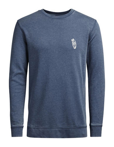 Jack & Jones Jorcosta Crew Neck Sweatshirt-BLUE-Large