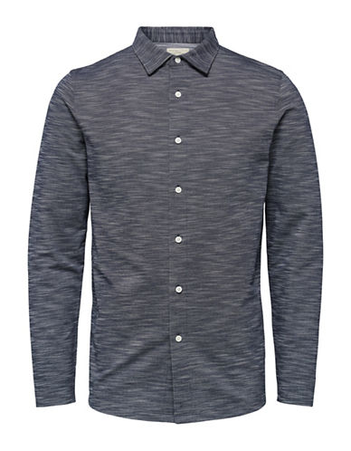 Selected Homme ShhCharlie Long-Sleeved Polo-BLUE-Large