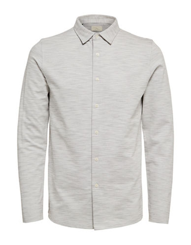 Selected Homme ShhCharlie Long-Sleeved Polo-WHITE-Small 89551343_WHITE_Small