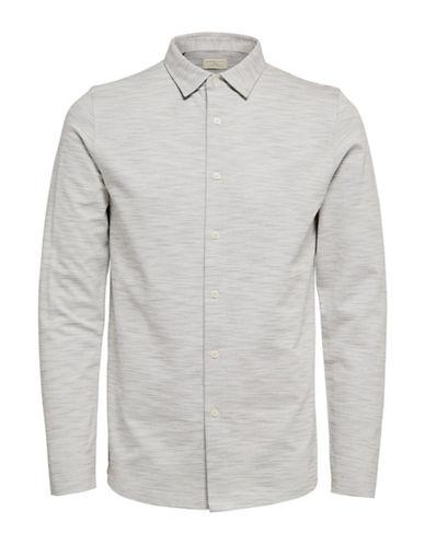 Selected Homme ShhCharlie Long-Sleeved Polo-WHITE-Medium 89551344_WHITE_Medium