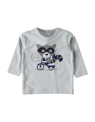 Name It Graphic Racoon Tee-BLUE-2 Months