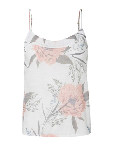 Vero Moda Shine Printed Singlet-WHITE-Small