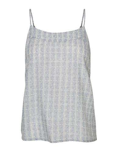 Vero Moda Shine Printed Singlet-BLUE-X-Small