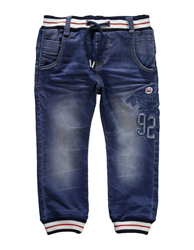 Name It Soft Ribbed Ankle Jeans-BLUE-4