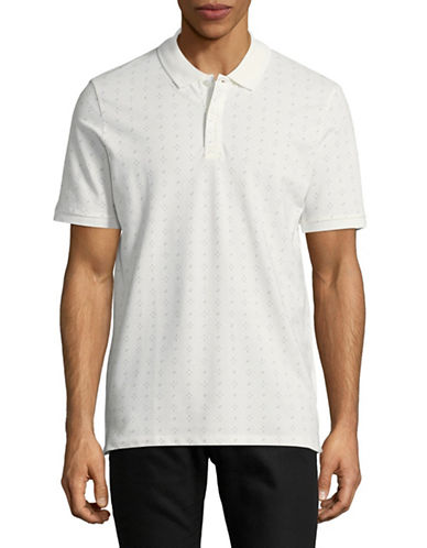 Jack And Jones Premium Speckle Print Polo-WHITE-Small