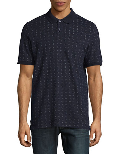 Jack And Jones Premium Speckle Print Polo-NAVY-Large