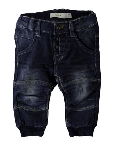 Name It Ankle Cuff Jeans-BLUE-12 Months