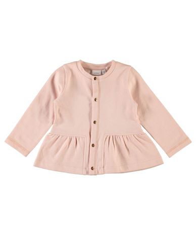Name It Peplum Cotton Cardigan-PINK-12 Months