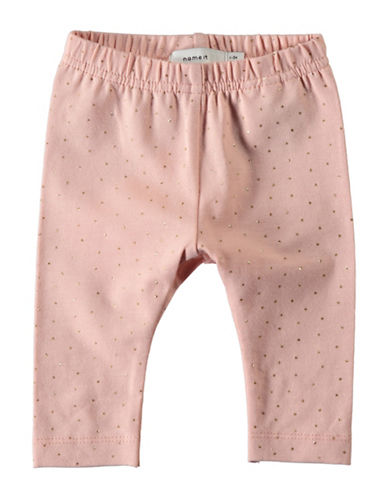 Name It Dotted Leggings-PINK-4 Months