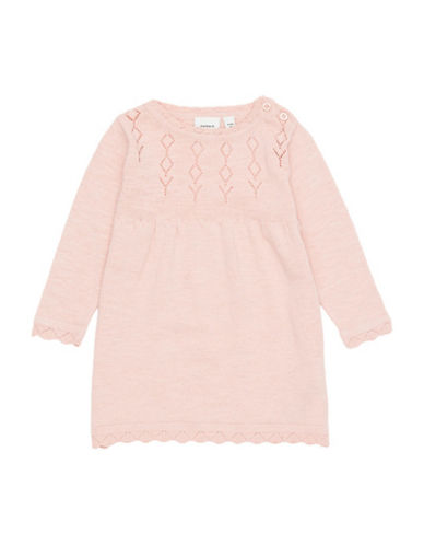 Name It Knit Cotton Dress-PINK-12 Months
