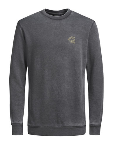 Jack & Jones Jorcosta Crew Neck Sweatshirt-GREY-Small