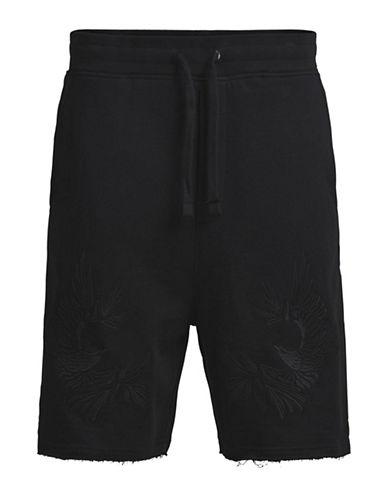 Jack & Jones Jorcraft Embroidered Cotton Shorts-BLACK-Medium 89122975_BLACK_Medium