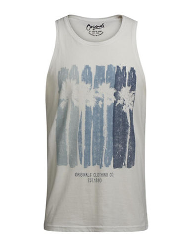 Jack & Jones Palm Tree Tank Top-WHITE-X-Large 89208175_WHITE_X-Large