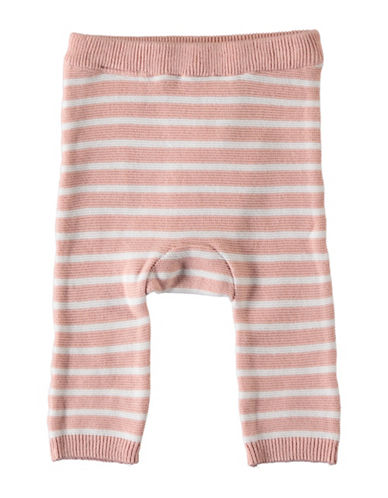 Name It Stripe Knit Cotton Pants-PINK-9 Months