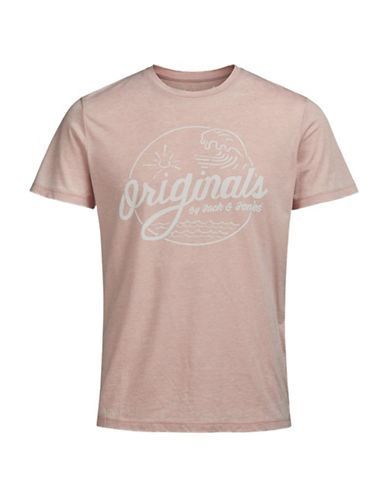 Jack & Jones Print Short Sleeve T-Shirt-PINK-X-Large 89208200_PINK_X-Large