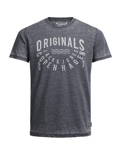 Jack & Jones Print Short Sleeve T-Shirt-BLUE-Medium 89208203_BLUE_Medium