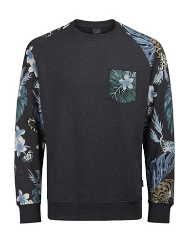 Jack & Jones Floral Printed Cotton Sweatshirt-GREY-Large 89123012_GREY_Large