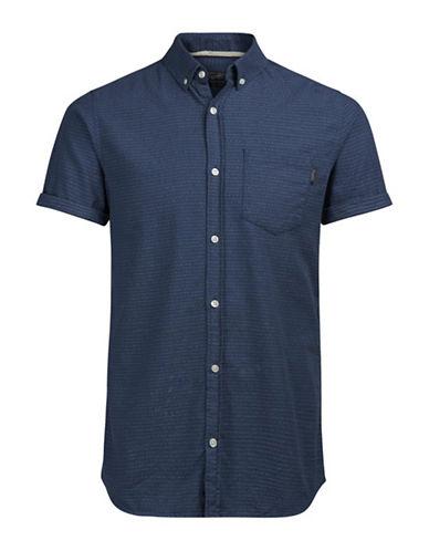 Jack & Jones Pin Dot Sport Shirt-BLUE-Large