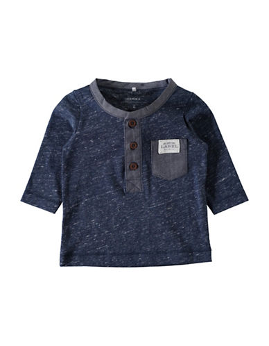 Name It Long Sleeve Henley-BLUE-12 Months