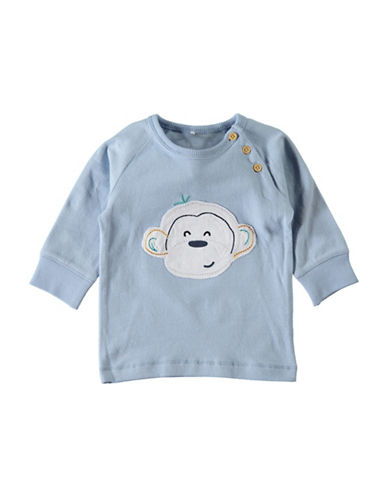 Name It Monkey Embroidered Sweater-BLUE-6 Months