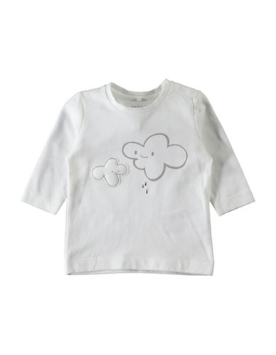 Name It Long Sleeve Puffy Cotton Tee-WHITE-6 Months