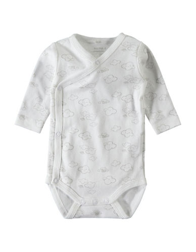 Name It Printed Wrap Cotton One-Piece-WHITE-9 Months