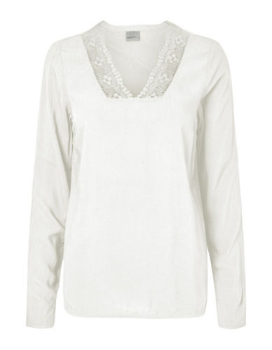 Vero Moda Who Whitlee Lace-Trimmed Top-WHITE-Medium 89105149_WHITE_Medium