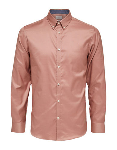 Selected Homme Classic Cotton Shirt-PINK-Medium
