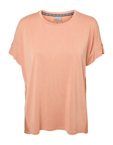 Vero Moda Pure Short Sleeve Top-PINK-Small 89105172_PINK_Small