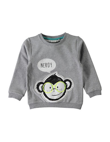 Name It Monkey Graphic Sweatshirt-GREY-2