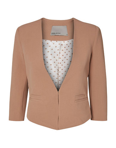 Vero Moda Vmpinar3 Short Dot Blazer-BROWN-40