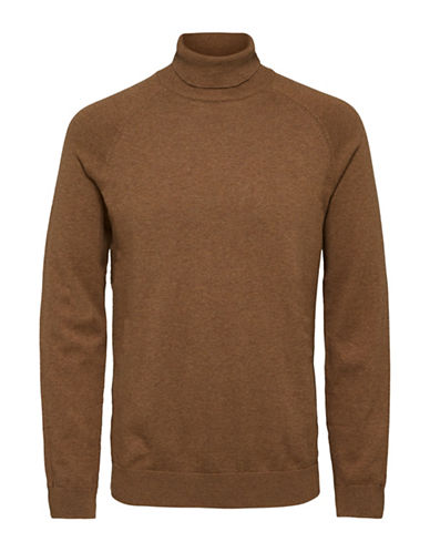 Selected Homme Turtleneck Sweater-BROWN-Large