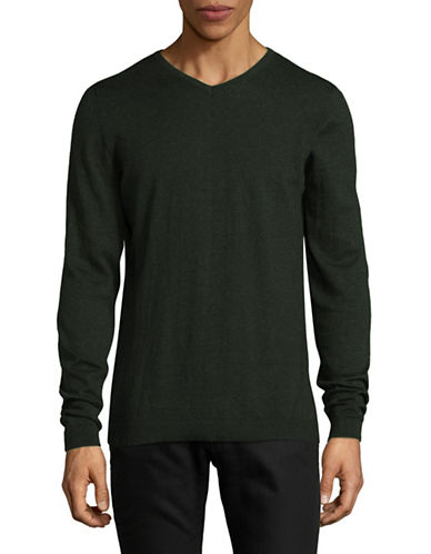 Jack And Jones Premium Jprluke Cashmere Blend Knit V-Neck Sweater-GREY-Medium