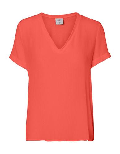 Vero Moda Sarah Jersey Short Sleeve Midi Top-PINK-Medium 89174437_PINK_Medium