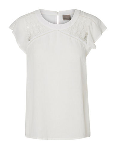 Vero Moda Pingo Cap Sleeve Top-WHITE-X-Small