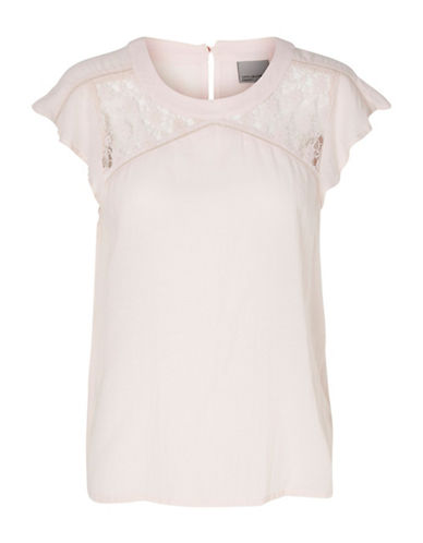 Vero Moda Pingo Cap Sleeve Top-PINK-Small